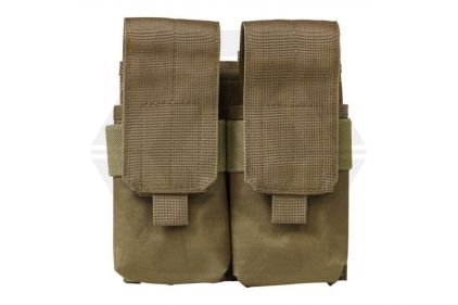 NCS VISM MOLLE Stacked Double Mag Pouch for M4 (Tan) © Copyright Zero One Airsoft