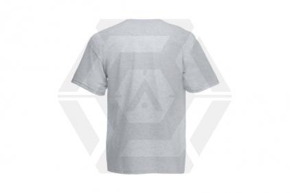 Daft Donkey Christmas T-Shirt 'Ho Ho Ho' (Light Grey) - Size Large