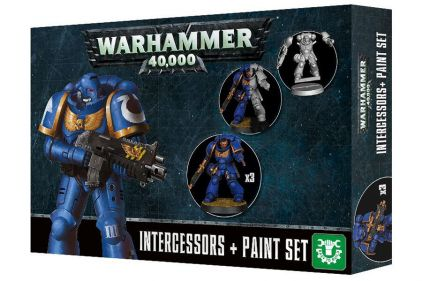 Games Workshop Warhammer 40,000 Intercessors & Paint Set