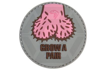 "Viper Velcro PVC Morale Patch ""Grow A Pair"" © Copyright Zero One Airsoft"
