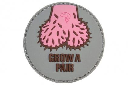 "Viper Velcro PVC Morale Patch ""Grow A Pair"""