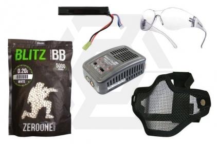 Zero One 11.1v 1100mAh LiPo 15C Battery Starter Pack Tier 1 (Bundle) © Copyright Zero One Airsoft