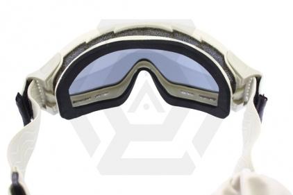 Blueye Tactical Goggles Granite Mission Tan Frame & Smoke/Clear Lenses