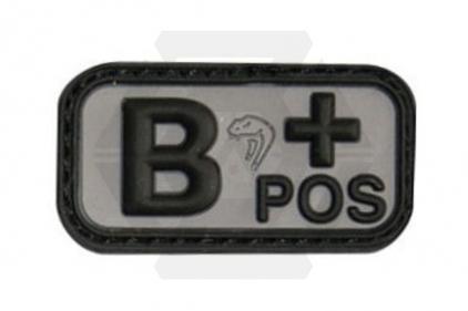 Viper Velcro PVC Blood Group Patch B+ (Black)