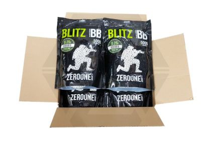 Zero One Blitz Bio BB 0.25g 5000rds (White) Box of 10 (Bundle) © Copyright Zero One Airsoft