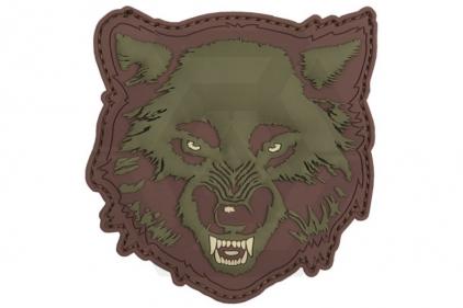 "101 Inc PVC Velcro Patch ""Wolf"" (Olive)"