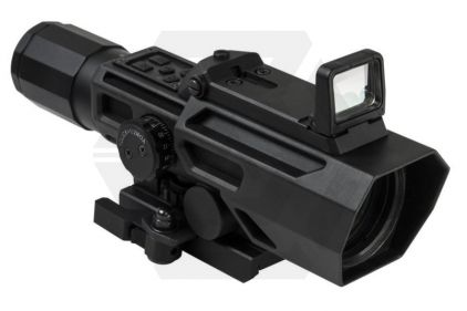 NCS 3-9x42 Scope with Blue/Red Illuminating P4 Sniper Reticle & Flip-Up Reflex Red Dot Sight © Copyright Zero One Airsoft