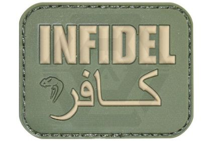 "Viper Velcro PVC Morale Patch ""Infidel"" (Olive)"