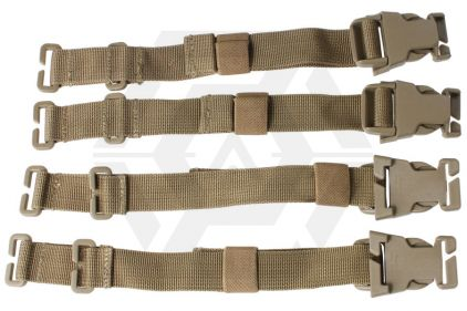 *Clearance* Quick Release MOLLE Straps (Dark Earth) Set of 4