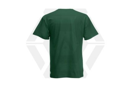 Daft Donkey Christmas T-Shirt 'Santa I NEED It Pistol' (Green) - Size Large