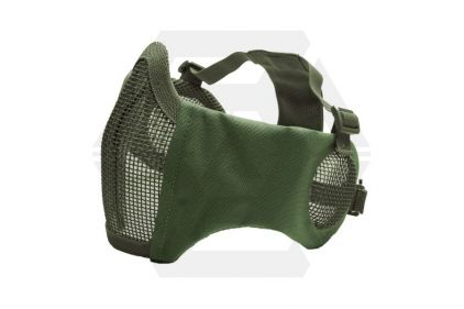 ASG Padded Mesh Mask with Ear Protection (Olive) © Copyright Zero One Airsoft
