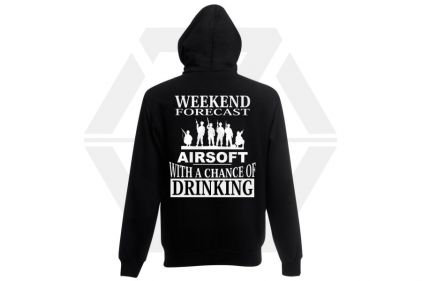 Daft Donkey Hoodie 'Weekend Forecast' (Black) - Size Medium