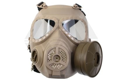 Mil-Force Gas Mask with Battery Operated Fan (Tan) © Copyright Zero One Airsoft