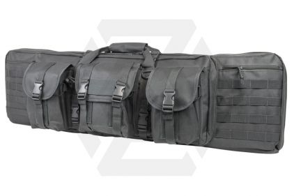 "NCS VISM MOLLE Double Rifle Case 42"" with Side Pouches (Grey)"