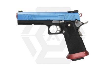 Armorer Works GBB GAS/CO2 DualFuel Hi-Capa HX10 with Split Slide (Blue/Red)