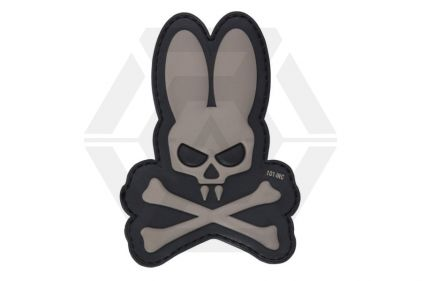 "101 Inc PVC Velcro Patch ""Skull Bunny"" (Grey) © Copyright Zero One Airsoft"