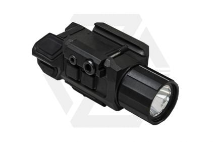 NCS Pistol Flashlight with Strobe & Green Laser