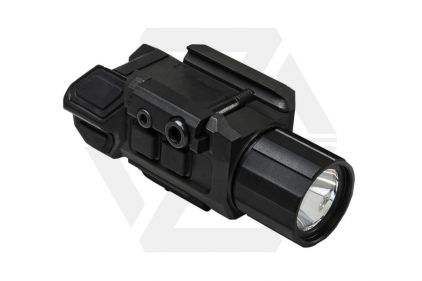 NCS Pistol Flashlight with Strobe & Green Laser © Copyright Zero One Airsoft