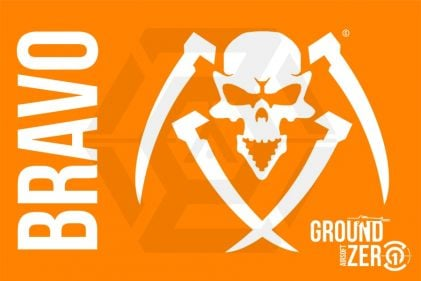 Ground Zero Flag 'Bravo' - 100cm x 150cm © Copyright Zero One Airsoft