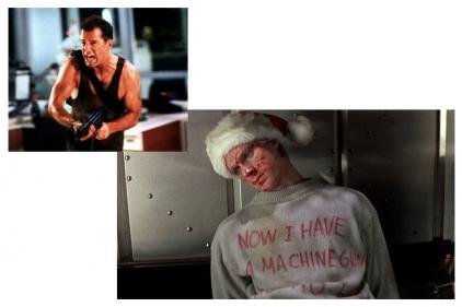 Daft Donkey Christmas T-Shirt 'Bloody Ho Ho Ho' (Light Grey) - Size Extra Large