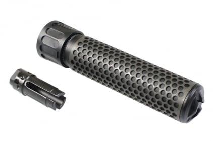 FMA QD Suppressor with Flash Hider - Long (Black) © Copyright Zero One Airsoft