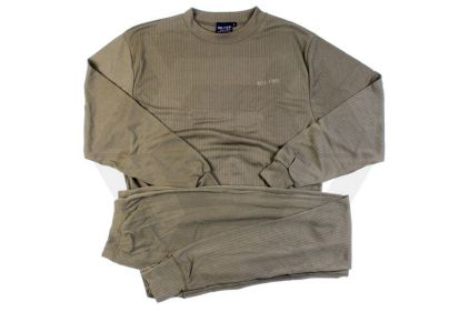 Mil-Com Thermal Base Layer Set (Olive) - Size Small