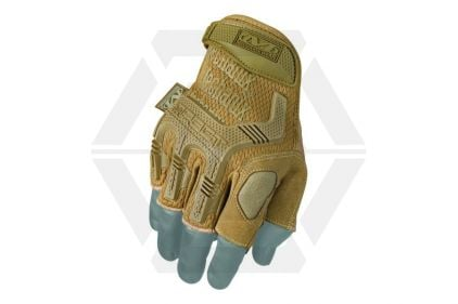 Mechanix M-Pact Fingerless Gloves (Coyote) - Size Large