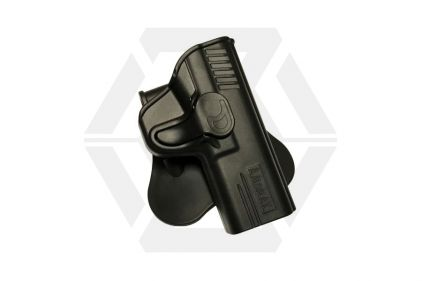 Amomax Rigid Polymer Holster for M&P9 (Black) © Copyright Zero One Airsoft