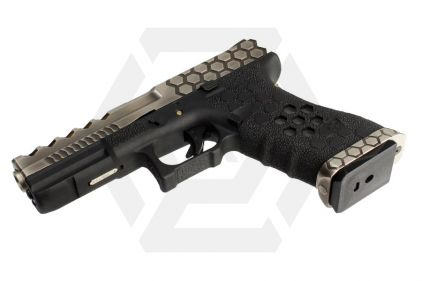 Armorer Works GBB Glock VX01 with Hex Cut (Silver/Black)