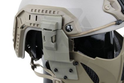 TMC Half Face Mask with Fast Helmet Adaptors (Khaki)