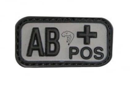 Viper Velcro PVC Blood Group Patch AB+ (Black)