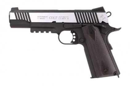KWC/Cybergun CO2BB Colt 1911 Rail Gun (Dual Tone) © Copyright Zero One Airsoft