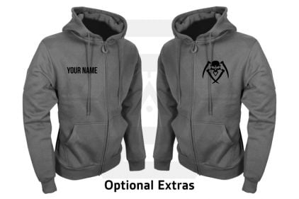 Daft Donkey Special Edition NAF 2018 'Airsoft Festival' Viper Zipped Hoodie Titanium (Grey)