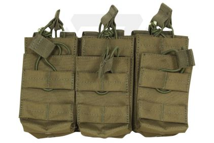 Viper MOLLE Quick Release Stacked Triple Mag Pouch (Olive)