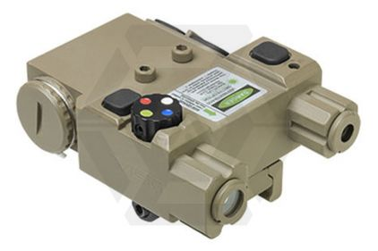 NCS Navigation Unit with Green Laser, 4 Colour LED & QR Mount (Tan) © Copyright Zero One Airsoft