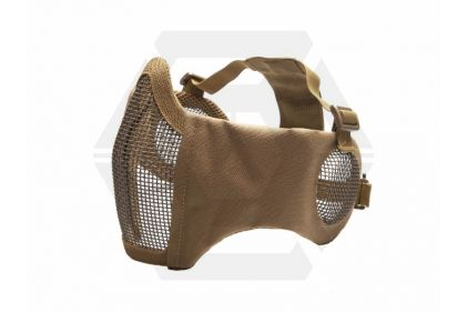 ASG Padded Mesh Mask with Ear Protection (Coyote Tan) © Copyright Zero One Airsoft