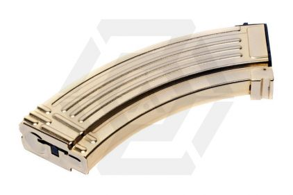 G&G AEG Mag for AK 600rds (Gold) © Copyright Zero One Airsoft