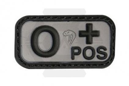 Viper Velcro PVC Blood Group Patch O+ (Black)