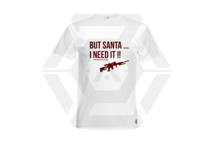 Daft Donkey Christmas T-Shirt 'Santa I NEED It Sniper' (White) - Size Medium - £9.95