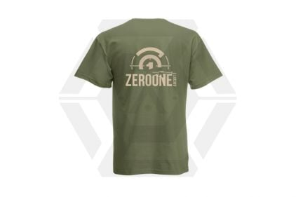 Daft Donkey T-Shirt 'Sunset Zero One Logo' (Olive) - Size Extra Extra Large © Copyright Zero One Airsoft
