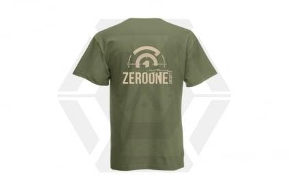 Daft Donkey T-Shirt 'Sunset Zero One Logo' (Olive) - Size Small