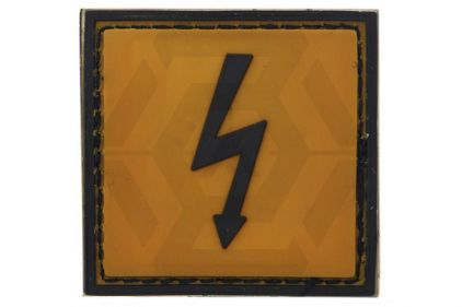 "VOS PVC Velcro Patch ""High Voltage"""