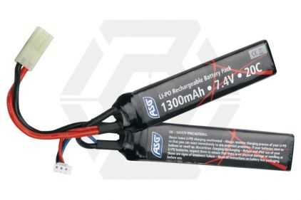ASG 7.4v 1300mAh 25C Nunchuck LiPo Battery © Copyright Zero One Airsoft
