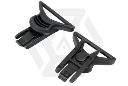 FMA Helmet Swivel Clips for Goggle & Mask Straps (Black) © Copyright Zero One Airsoft