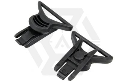 FMA Helmet Swivel Clips for Goggle & Mask Straps (Black)