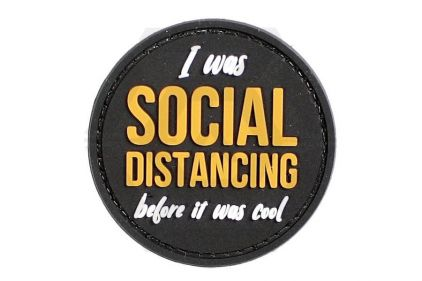 EB PVC Velcro Patch 'I Was Social Distancing Before It Was Cool' © Copyright Zero One Airsoft