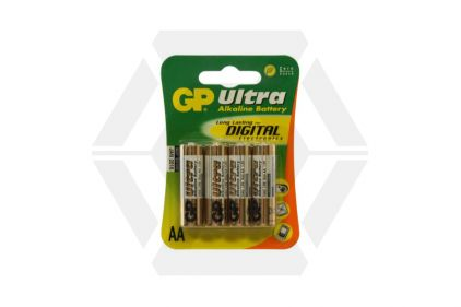 GP Ultra Alkaline Batteries AA (Pack Of 4)