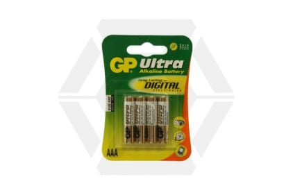 GP Ultra Alkaline Batteries AAA (Pack Of 4)