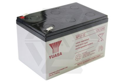Yuasa 12v 12Ah Sealed Lead Acid Battery for CAW M134 Minigun