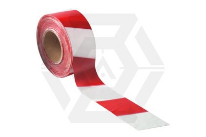 Zero One Barrier Tape 75mm x 500m (Red & White) © Copyright Zero One Airsoft